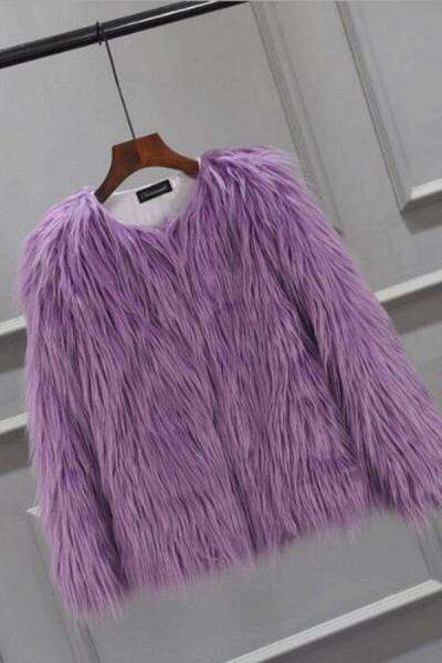 Women's Winter Daily Fashion Street Faux Fur Coat_10