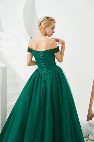 Glorious Off-the-shoulder Tulle A-line Prom Dress_11