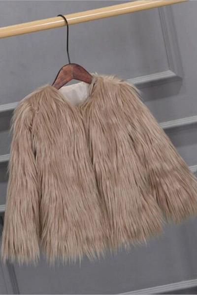 Women's Winter Daily Fashion Street Faux Fur Coat_5