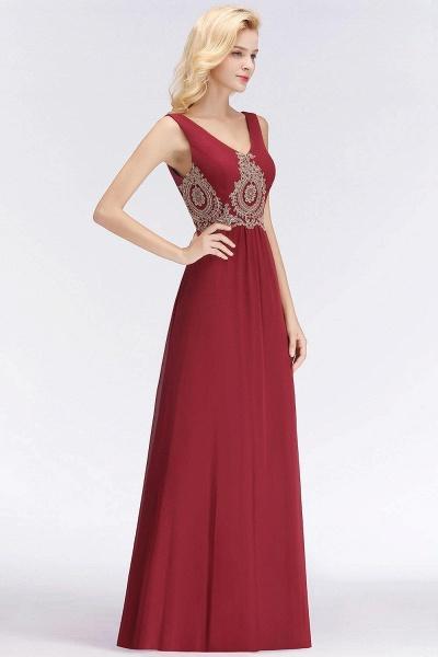 A-Line Chiffon Lace Ruffles Evening Dress_2