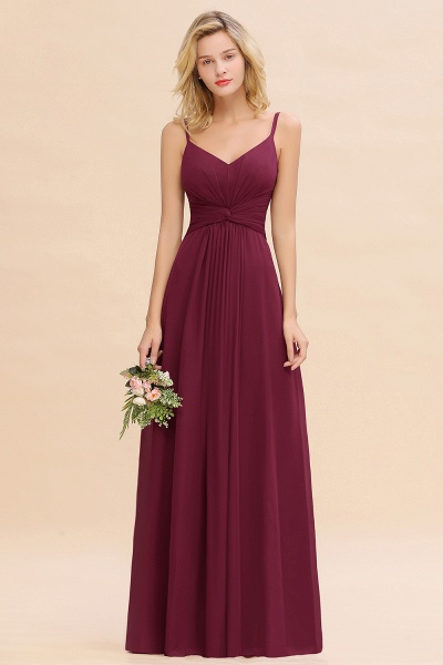 BM0762 Elegant A-line Ruffles Spaghetti Straps Bridesmaid Dress_44