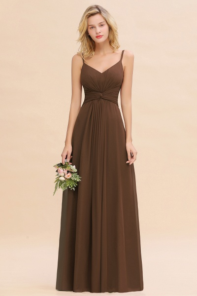 BM0762 Elegant A-line Ruffles Spaghetti Straps Bridesmaid Dress_12
