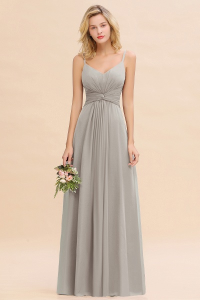BM0762 Elegant A-line Ruffles Spaghetti Straps Bridesmaid Dress_30