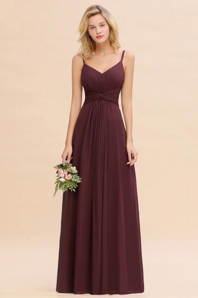 BM0762 Elegant A-line Ruffles Spaghetti Straps Bridesmaid Dress_47
