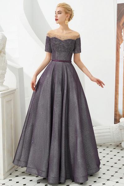 Fascinating Jewel Bright silk Princess Prom Dress_4