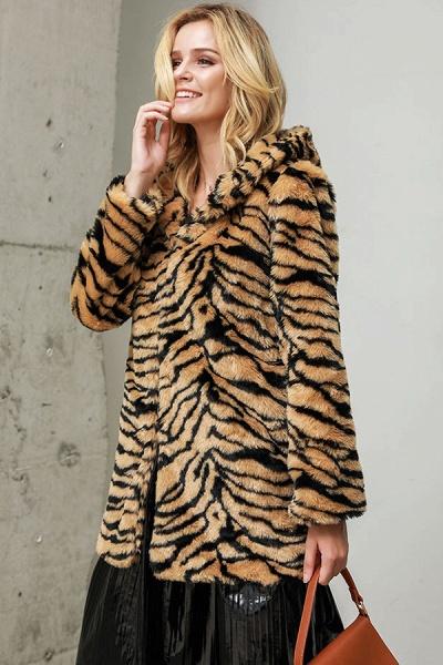 Daily Fall & Winter Hooded Leopard Faux Fur Coat_5