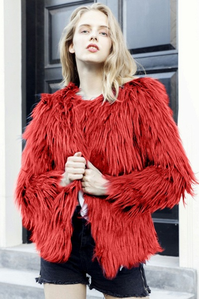 Women's Winter Daily Fashion Street Faux Fur Coat_16