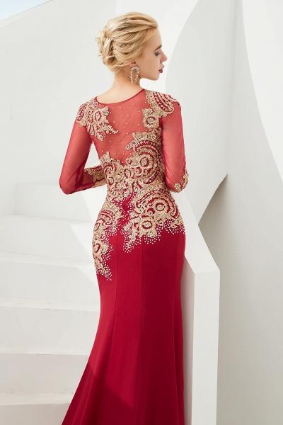 Attractive Jewel Tulle Mermaid Prom Dress_12