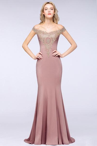 Elegant Bateau Healthy Mermaid Evening Dress_18