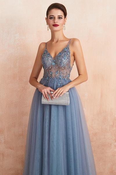 Best V-neck Tulle A-line Prom Dress_20