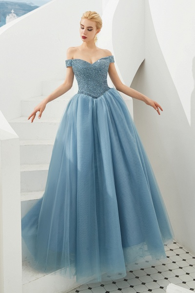 Glorious Off-the-shoulder Tulle A-line Prom Dress_17