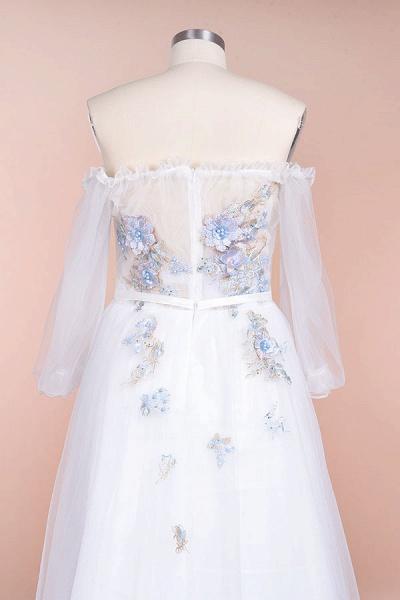 Off-the-Shoulder Appliques Tulle Wedding Dress_7