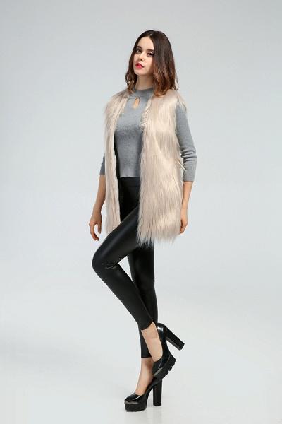 Women's Daily Fall & Winter Faux Fur Vest Coat_18
