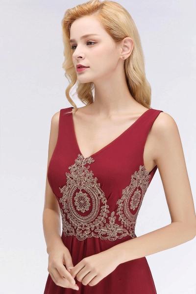 A-Line Chiffon Lace Ruffles Evening Dress_3