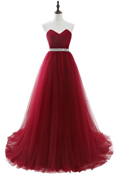 Glorious Strapless Organza A-line Evening Dress_3