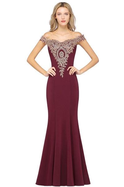 Elegant Bateau Healthy Mermaid Evening Dress_10