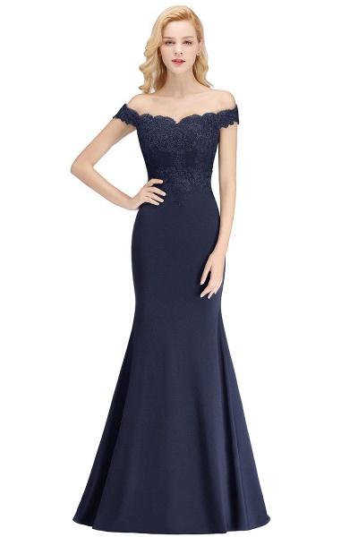 Mermaid Off-the-shoulder Long Appliques Bridesmaid Dress_6