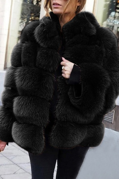 Women's Daily Street Winter Regular Faux Fur Coat_4