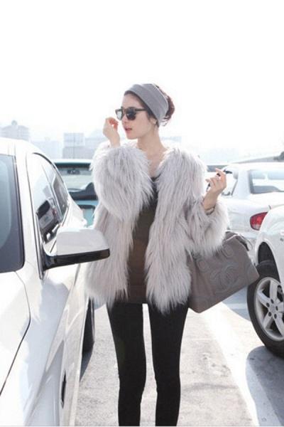 Women's Winter Daily Fashion Street Faux Fur Coat_12