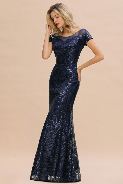 Elegant Jewel Tulle Mermaid Prom Dress_10