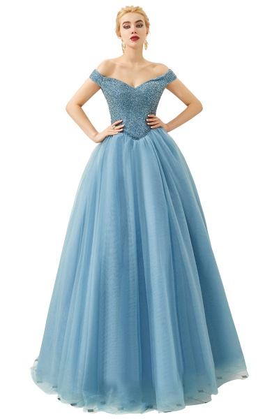 Glorious Off-the-shoulder Tulle A-line Prom Dress_5