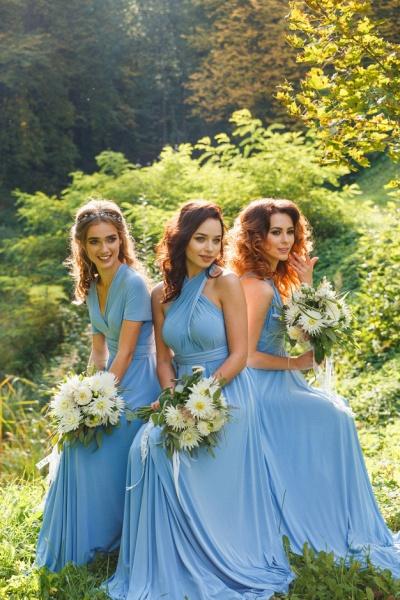 Convertible Blue Long Bridesmaid Dresses | Sexy Maid of Honor Dresses_10