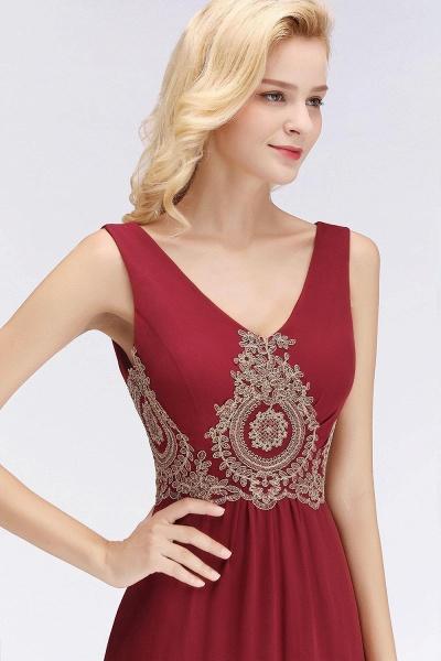 A-Line Chiffon Lace Ruffles Evening Dress_4