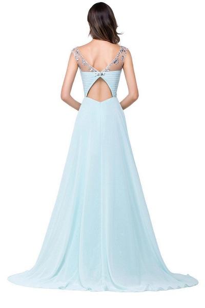 A-line Sweetheart Crystal Chiffon Evening Dress_7