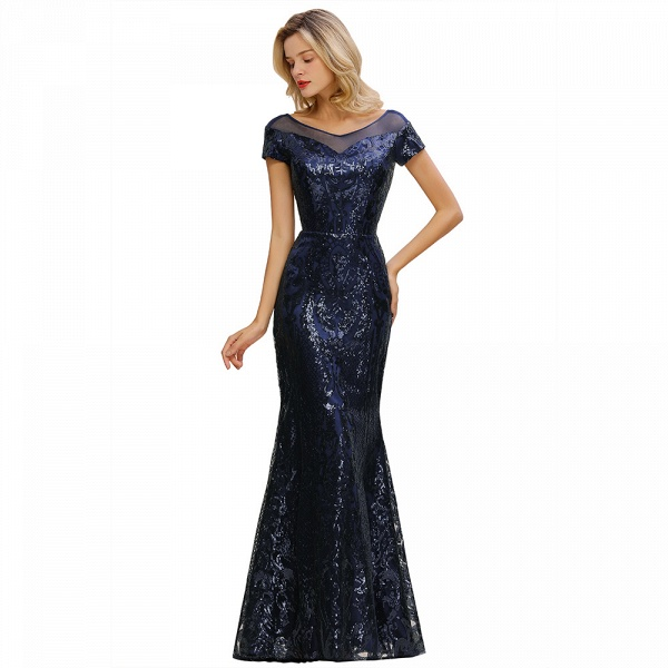 Elegant Jewel Tulle Mermaid Prom Dress_12