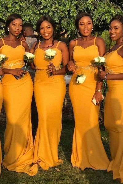 Graceful Floor Length Sheath Bridesmaid Dress_1