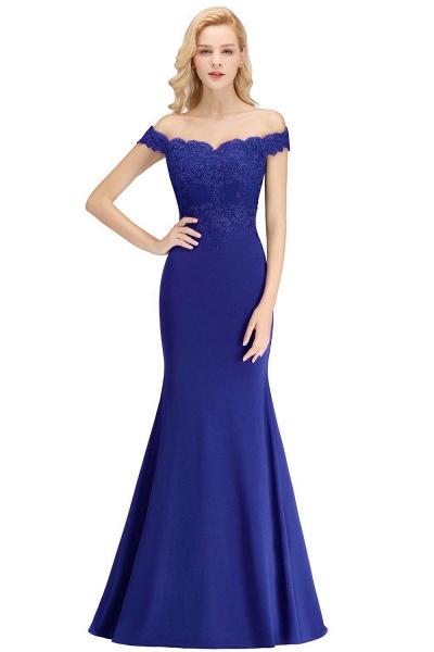 Mermaid Off-the-shoulder Long Appliques Bridesmaid Dress_5