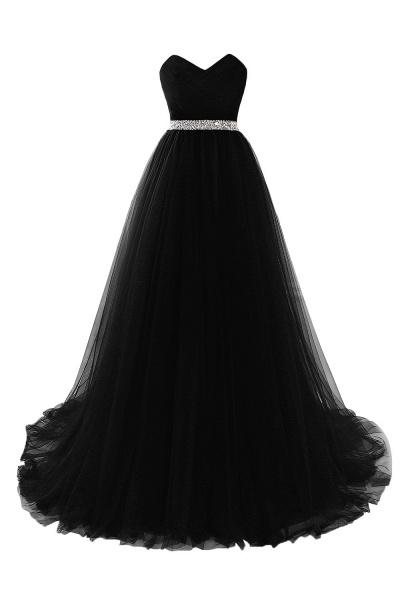 Glorious Strapless Organza A-line Evening Dress_6