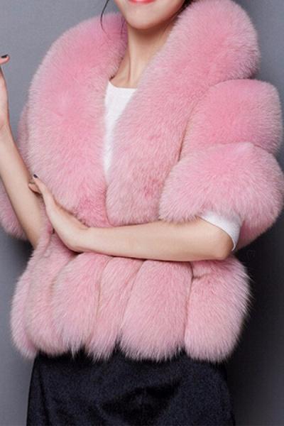 Women's Going out Winter Short Fur Coat_2