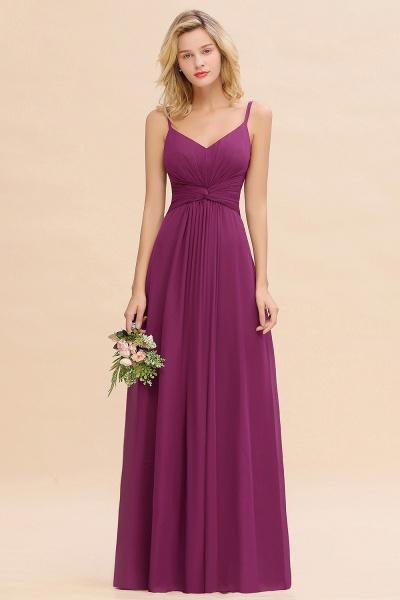 BM0762 Elegant A-line Ruffles Spaghetti Straps Bridesmaid Dress_42
