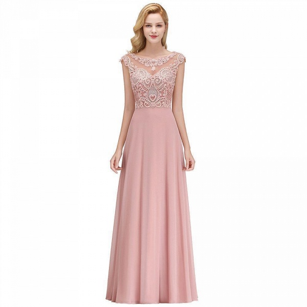 A-line Crystal Decorated Floor Length Evening Dress_1