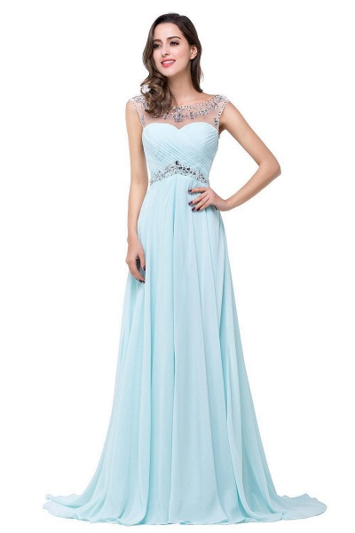 A-line Sweetheart Crystal Chiffon Evening Dress_8
