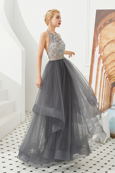 Chic Halter Tulle A-line Prom Dress_6