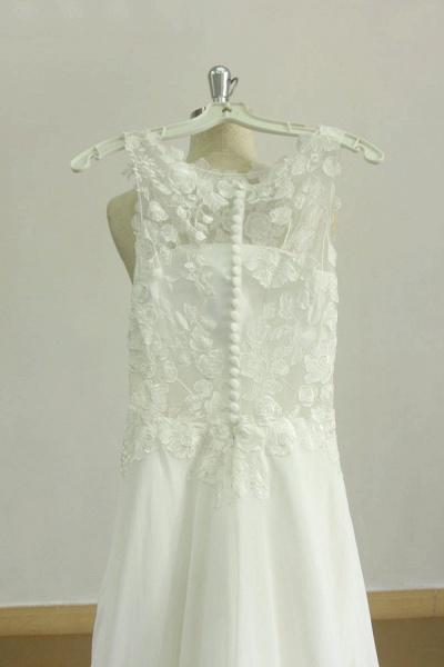Graceful Appiques Chiffon A-line Wedding Dress_3