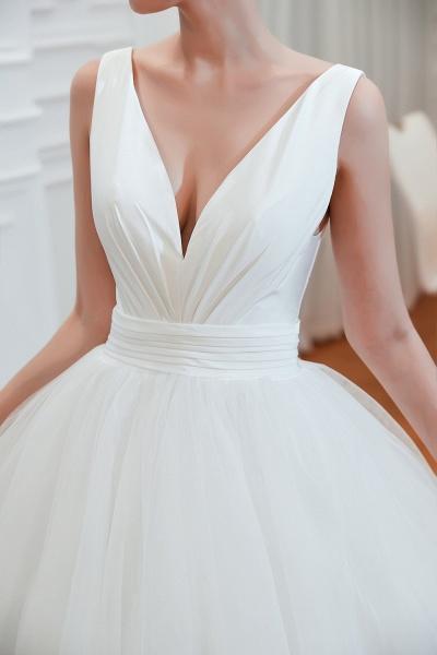 Elegant Lace-up Ruffle Tulle A-line Wedding Dress_12