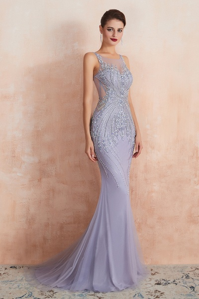 Graceful Jewel Tulle Mermaid Prom Dress_6