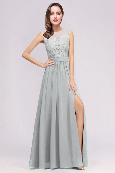 Lace Chiffon Floor-Length A-line Bridesmaid Dress_11