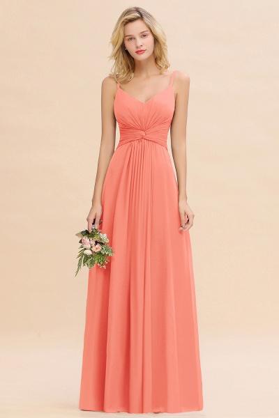 BM0762 Elegant A-line Ruffles Spaghetti Straps Bridesmaid Dress_45