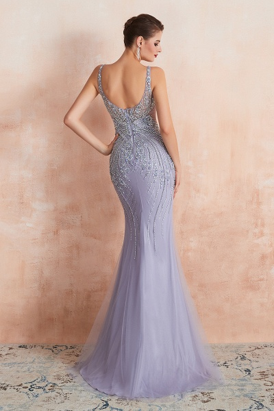 Graceful Jewel Tulle Mermaid Prom Dress_5