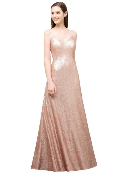 Excellent Sweetheart Sequined A-line Evening Dress_1