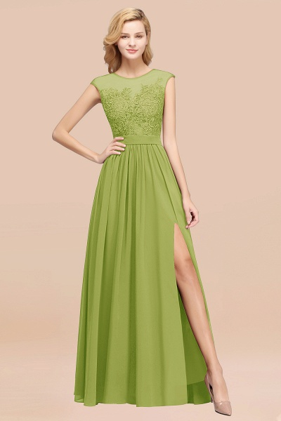 A-line Chiffon Lace Jewel Sleeveless Floor-Length Bridesmaid Dresses with Appliques_34