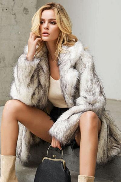 Women's Street Chic Daily Winter Faux Fur Coat_4