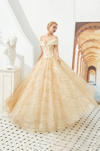 Attractive Off-the-shoulder Tulle Princess Prom Dress_4