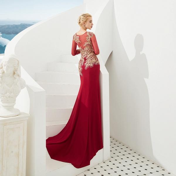 Attractive Jewel Tulle Mermaid Prom Dress_7