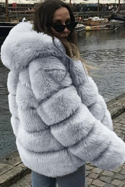 Women's Daily Winter Hooded Faux Fur Coat_6