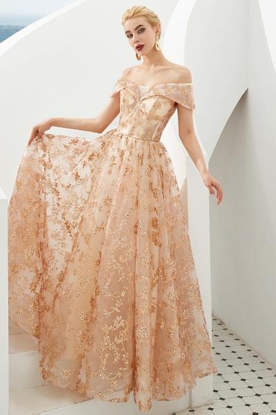 Graceful Off-the-shoulder Tulle A-line Prom Dress_5